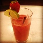 strawberry Margarita with fresh puree