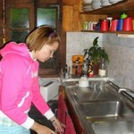 My wife Olga in the kitchen