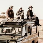 On top of the Land Cruiser, waiting for a crossing