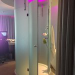 Cylindrical shower in the room
