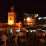 15 minute walk to the Jamal el fnaa