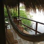 Vista da varanda da cabana especial