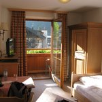 Single room facing towards balcony