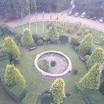Gardens adjacent to wheel