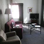 My corner suite living room