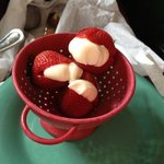 cream cheese icing stuffed strawberries
