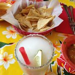 Chips, Salsa and Margarita