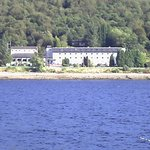 View of hotel from the boat cruise on Loch Linnhe