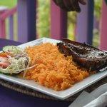 porc frit / riz créole