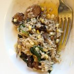 Beef cheek risotto with fresh corn