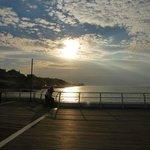 sunset from cromer pier august 2013