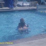 atmosphere at the pool is family rated! No wildness or craziness, just good ole family fun!