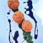 Artichoke-Asiago Risotto Fritters