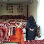 Lady selling her sadu items