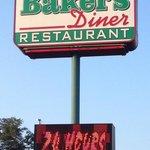 Baker's Diner sign