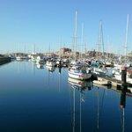 Hartlepool Marina on a sunny evening