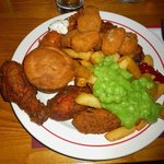 All you can eat fish & chips buffet (plate 1!)