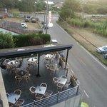 terraza del hotel