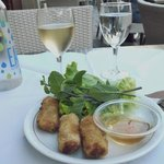 Spring rolls with greens