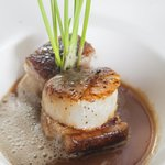 MP sea scallops and pork belly