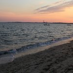 View of Provincetown from Sandbars private beach