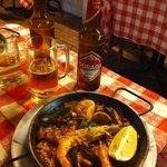 paella di pesce e Dorada