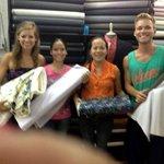 Choosing our fabrics.