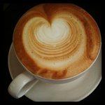 beautiful coffee from the castle tearooms