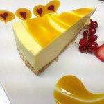 Mango cheesecake.