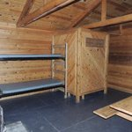 2 bunks & two more behind privacy wall 4 twin size & comfy