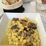 Gnocchi with clams