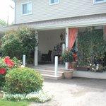 The veranda, and front door to my little suite