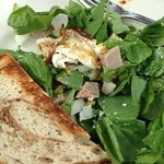 lunch-spinach salad & half sandwich