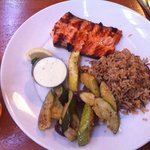 Oregon King Salmon, Rice Pilaf and Roasted Veggies