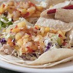 Shaka tacos with fresh mahi mahi and mango salsa are a customer favorite.