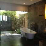 The Bathroom with Outdoor Shower!