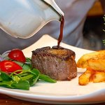 Beef Eye Fillet at its best with double cooked Parmesan Fries