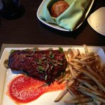 Sirloin Steak and Fries at Kil@Wat in the InterContinental Hotel