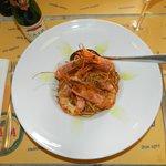 Prato de camarões
