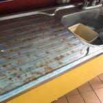 Pool bar sink