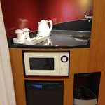 microwave provided with complimentary tea, coffee & hot chocolate
