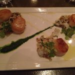 Special of Scallops with Calamari and Pearl Couscous