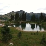 The perfect glacier pond on the Naches Trail suggested by the Alta Crystal owner
