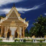 Beautiful temple near Taling Ngam Beach