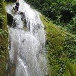 Down the waterfall!
