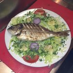 Sea bass on Mangal delicious