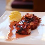 Grilled Octopus* sautéed with Ouzo and Fresh Thyme