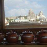 Sala colazioni panoramica con buffet alla turca