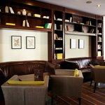 Hotel Bristol lobby bar library