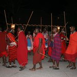 Entertainment by Masai dancers
